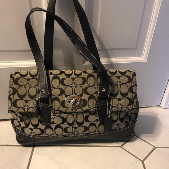 Coach Handbags - Coach black purse excellent condition